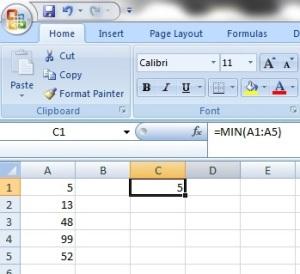 Function MIN-MAX 1