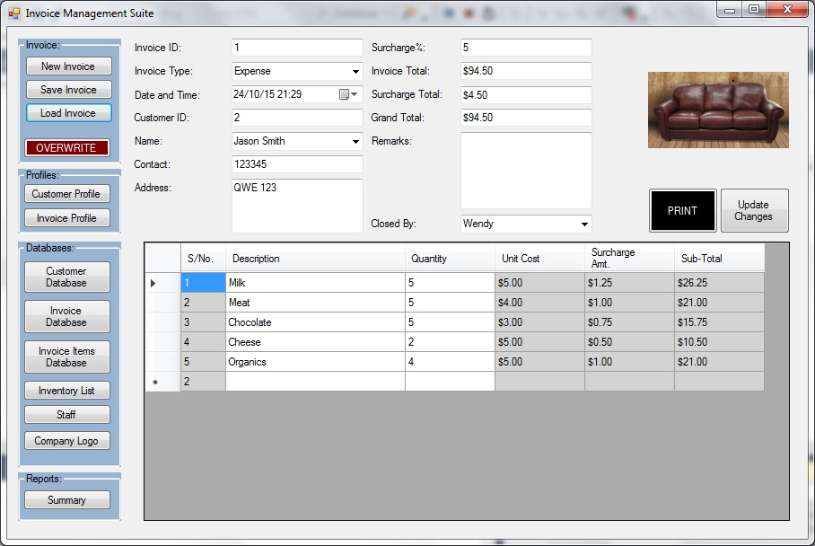 Integrated Invoicing Inventory And Accounting System Excelpunks - Invoice and inventory software